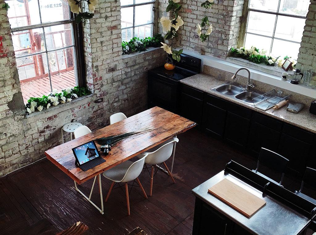 werkplek aan de keukentafel - het bureau van c