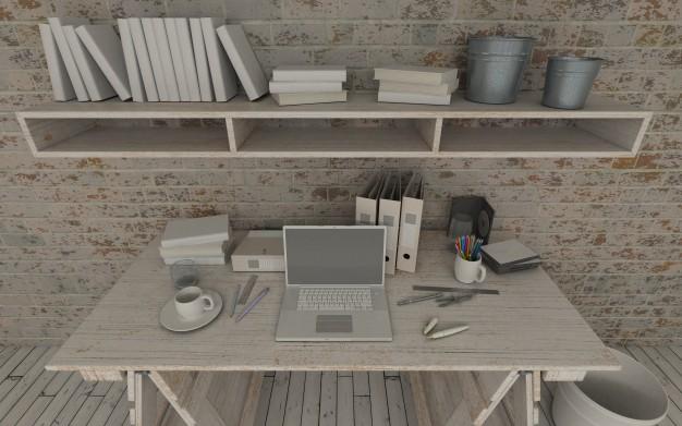 het bureau van c werkplek van hout design