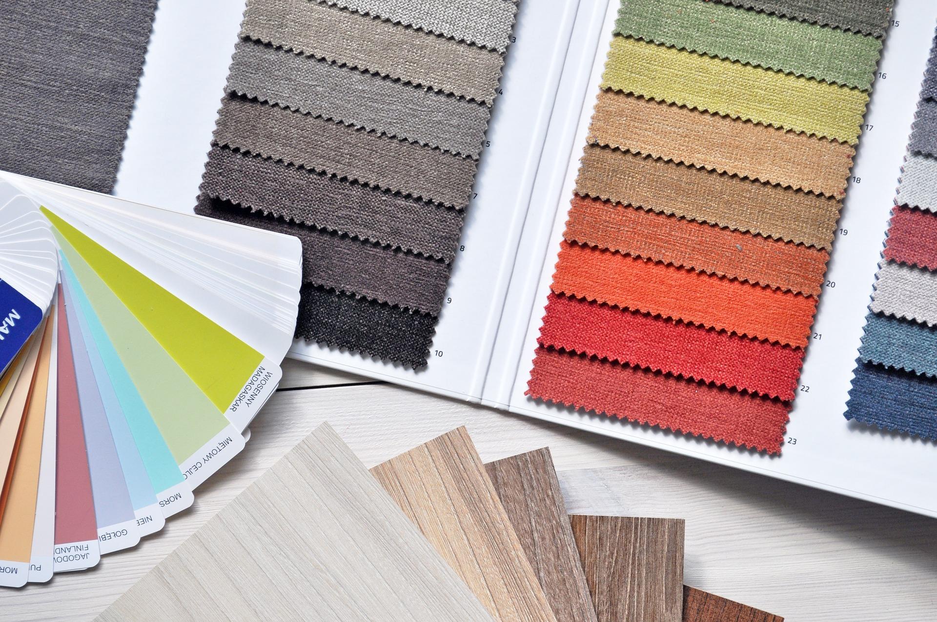 het bureau van c interieur-design kleurenstaal